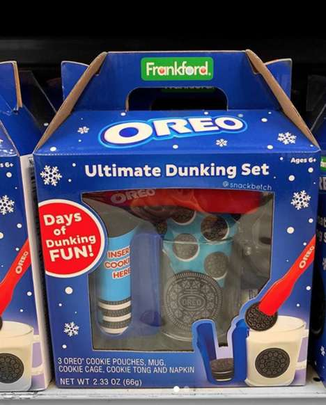 Cookie Dunking Kits - The Oreo Ultimate Dunking Set Lets You Enjoy Cookies and Milk Without the Mess