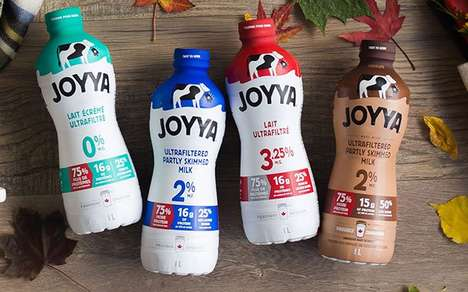 Specially Filtered Milk Beverages - The Saputo Joyya Ultrafiltered Milks Contain 75% More Protein