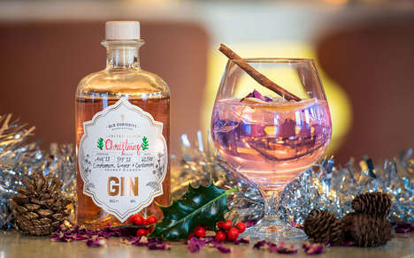 Color-Changing Christmas Gins - The Old Curiosity Distillery Christmas Gin is Herbaceous