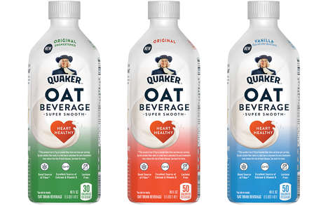 Versatile Mainstream Oat Milks - The New Quaker Oat Beverage Has a Super Smooth Texture
