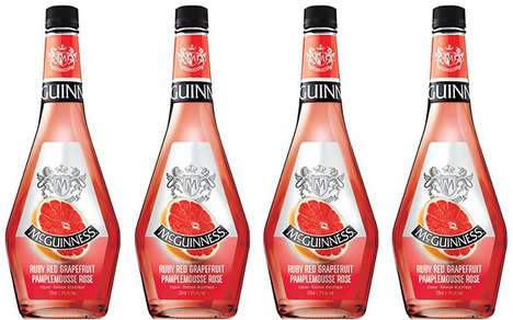 Versatile Citrus Liqueurs - The McGuinness Ruby Red Grapefruit Liqueur is Perfect for Cocktails