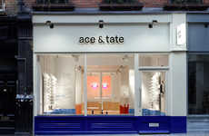 Beautifully Creative Retail Spaces - Anyways Uses Voyeurism as Inspiration for Ace & Tate's Shop
