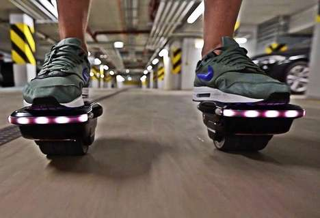 Lightweight Agile Hovershoes - The SHOWERBOARD Shoes are Incredibly Fun and Easy to Ride