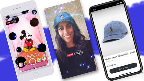 App-Only Collaboration Hats - The Levi's x Disney Collaboration Features a Snapchat-Exclusive Style