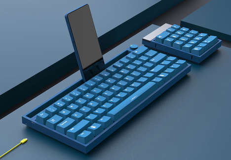 Smartphone-Accommodating Keyboards - The Fangyuan Keyboard Introduces Additional Functionality