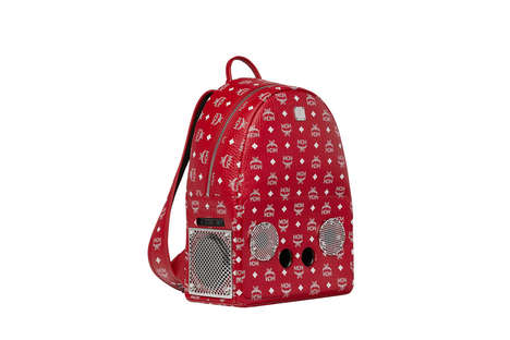 Speaker-Infused Backpacks - The Stark Visetos Backpack by MCM and Wizpak Celebrates Hip-Hop Culture