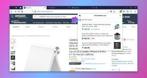 Price-Tracking Browser Features