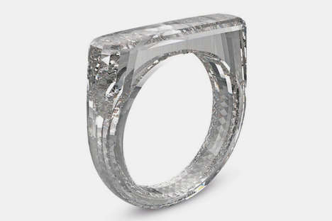 Bespoke Solid Diamond Rings - Jony Ive and Marc Newson Design a Special Ring for (RED)