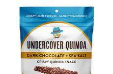 Crispy Guilt-Free Quinoa Snacks - Undercover Quinoa's Health-Focused Snack Boasts Premium Chocolate