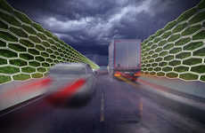 Emissions-Capturing Highway Walls
