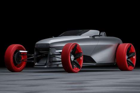Eco Retro Race Cars - The 'ERØDE' Hot Rod Brings an Electric Powertrain to a Classic Design