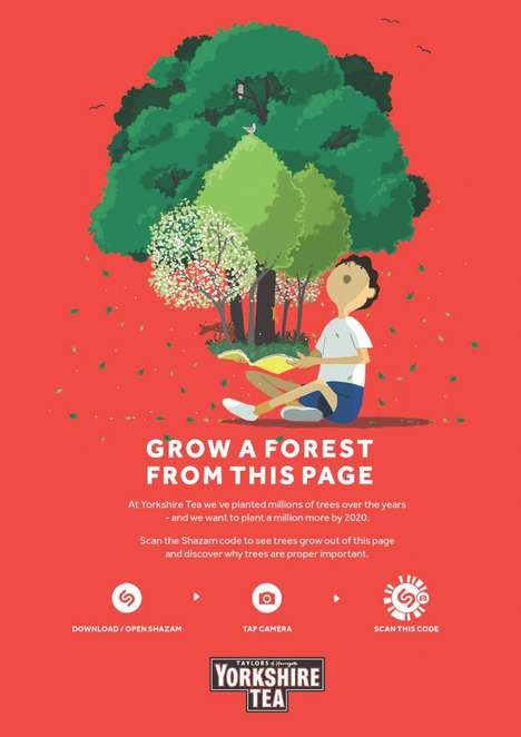 Augmented Educational Posters - Yorkshire Tea's Educational Campaign Shows the Importance of Trees