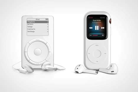 MP3 Player Smartwatch Cases - The Apple Watch Pod Case Downgrades the Look of the Device