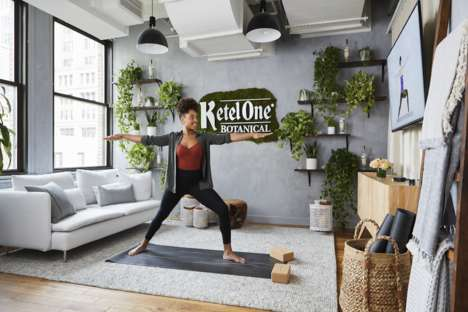 Branded Botanical Work Spaces - Ketel One Botanical and WeWork Promote a Mindful Working Experience