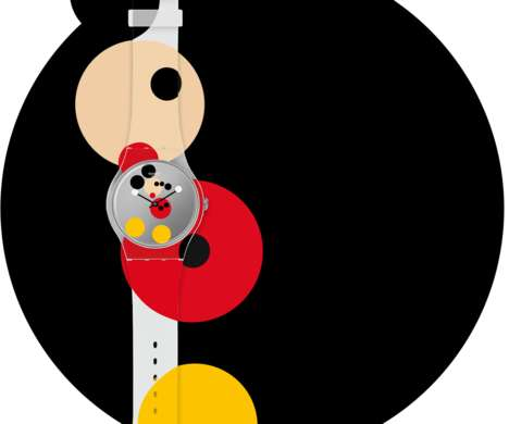 Character-Centric Limited Edition Timepieces - Swatch & Damien Hirst Launch a Mickey Mouse Watch Duo