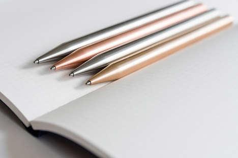 Sleek Minimalist Metal Pens