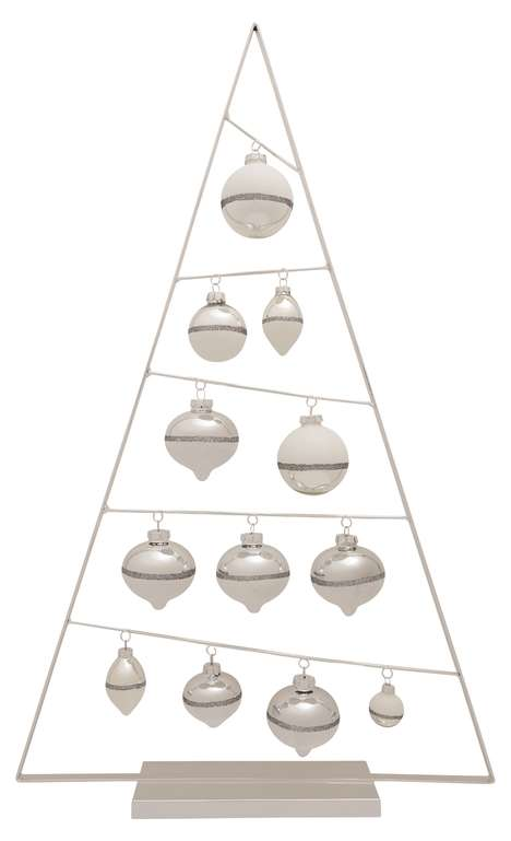 Minimalist Holiday Tree Alternatives - Home Depot's Holiday Christmas Ornament Tree is Understated