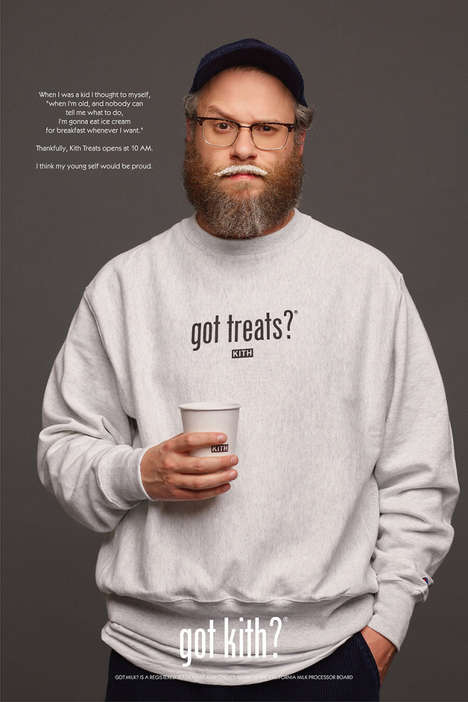Recreated Iconic Marketing Campaigns - Kith Treats Enlists Celebrities for a New Got Milk? Campaign
