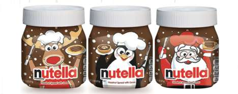Festive Chocolate Spread Packaging - The Limited-Edition Nutella Holiday Jars are Made for Gifting