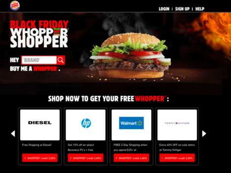 Incentivized Shopping Campaigns - Burger King's Whopper-Shopper Helps Consumers Shop Online and Save