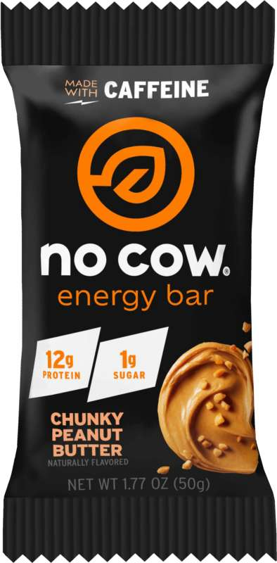 Low-Sugar Energy Bars - No Cow's Energy Bar with Caffeine Contains Just One Gram of Sugar