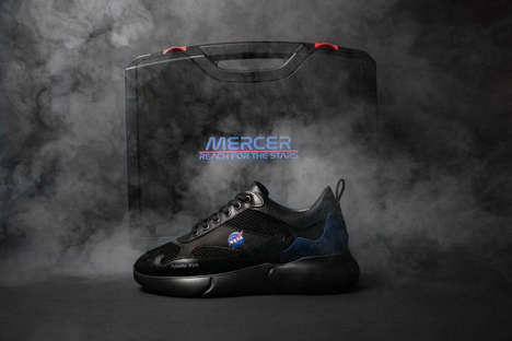 Space-Inspired Dark Sneakers