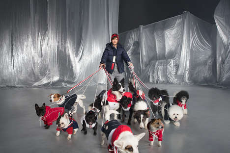 Dog-Focused Luxe Jackets - The Moncler & Poldo Dog Couture Capsule is the Latest Addition to Genius
