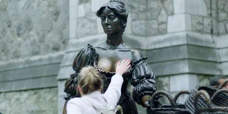 Discreet Breast Cancer Campaigns - A Lump Was Placed on the Molly Malone Statue's Breasts