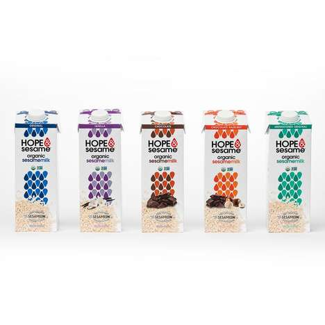 Seed-Based Non-Dairy Drinks - Hope & Sesame Creates Original & Flavored Sesame Milk Beverages