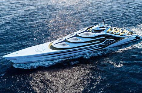 Opulent Zero-Emission Yachts