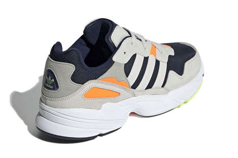 Retro Neon-Accented Sneakers