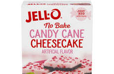 Gelatinous Candy Cane Cheesecakes
