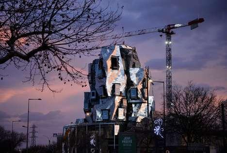 Sculptural Aluminium-Clad Towers