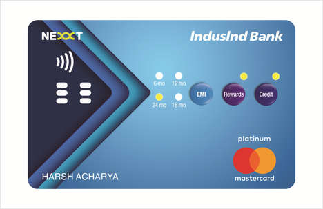 Button-Integrated Bank Cards - IndusInd Bank's Nexxt Bank Card Design Provides Three Payment Options
