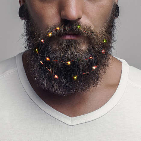 Festive Beard Lights - FIREBOX Pulls All the Stops This Holiday Season with Its Bizarre Product