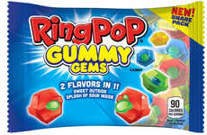 Sour Center Gummy Candies - The Ring Pop Gummy Gems Have a Two-in-One Format