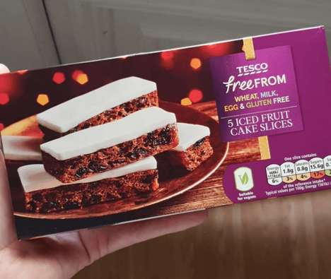 Free-From Fruit Cake Slices