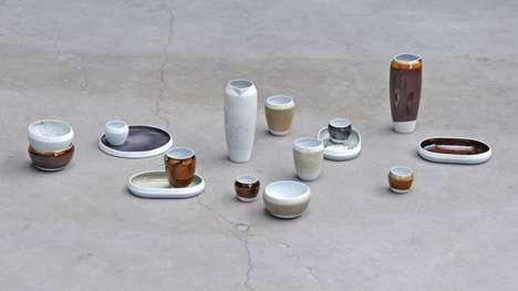 Metal Waste Ceramic Glazes