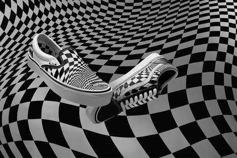 Warped Checkerboard Shoes