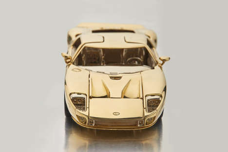 Collectible Gold Race Cars