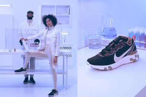 80s-Inspired Grid Sneakers