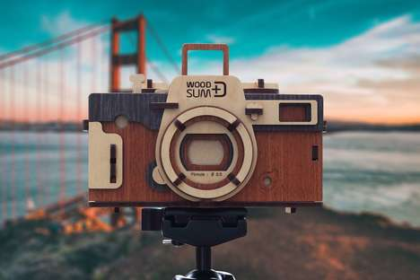 Retro DIY Wooden Cameras - The Woodsum Pinhole Camera is Made from Laser-Cut Components