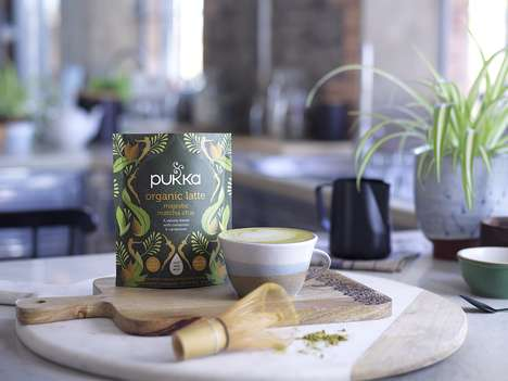 Instant Herbal Lattes - Pukka Herbs' New Latte Blends Come in Biodegradable, Resealable Pouches