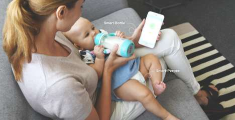 Connected Baby Care Solutions - The Littleone 'Smart-Bottle' and 'Smart-Peepee' are Advanced