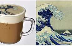 Painterly Latte Art - In Tokyo, Nescafe is Sharing Creative Latte Art Designs Inspired by Artists