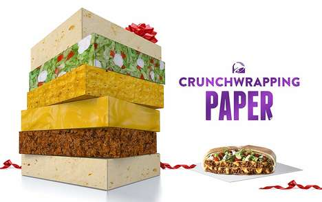 Taco-Inspired Wrapping Paper - Taco Bell Releases a Line of Unconventional Wrapping Paper Prints