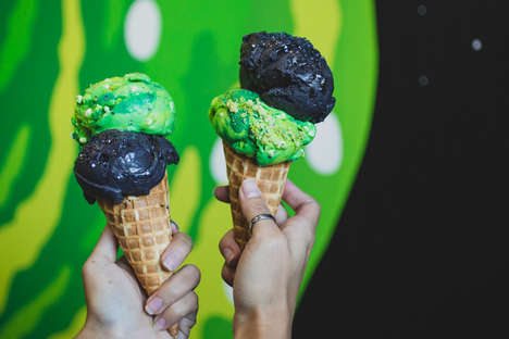 Cartoon-Themed Ice Cream Pop-Ups