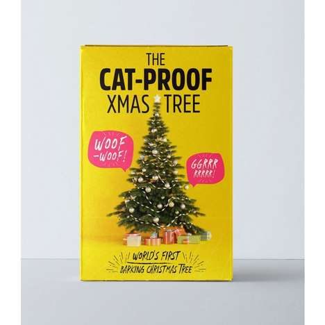 Cat-Deterring Holiday Trees - Christmas Tree World's 'Cat-Proof Christmas Tree' Barks Like a Dog