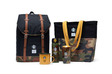 Camo-Inspired Coffee Clothing Collaborations
