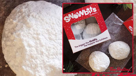 Snowball-Inspired Doughnut Holes